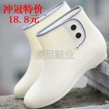 Special offer new winter fashion female boots plus cotton and wool warm short boots fine rain boots shoes buckle shoes water garden