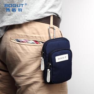 博格特5.5寸手機包 男士穿皮帶腰包多功能休閑包 迷你掛包女小包