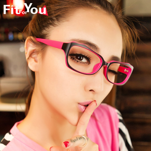 6eb37e492f9 Korean version of the full- frame color decorative fashion glasses frame  female models influx of non-mainstream eyes box frames can be equipped with  myopia