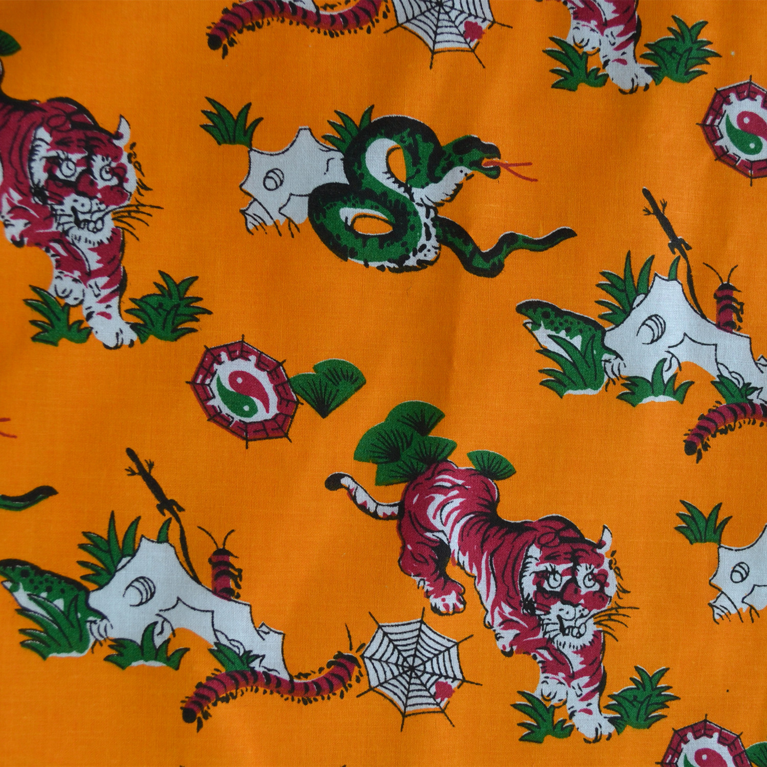 New Chinese style traditional baby tiger clothes childrens five poison clothes fabrics dragon boat festival supplies pure cotton cloth