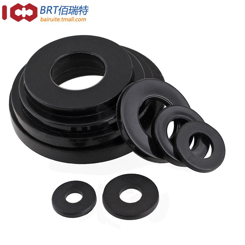 黑色尼龙垫片 塑料平垫 平垫圈 绝缘平垫 耐高温塑胶垫圈M2-M20