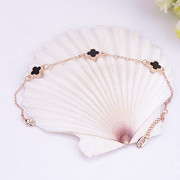 Email Korea sweet bracelet lucky Ruili women Korean fashion rose gold plated jewelry