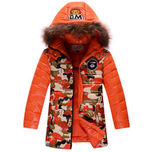 2014 true collars authentic children down jacket boy more breathable satchel in the mail in child raccoon coat