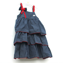 In the summer of 2015 the new foreign trade the original single girls small wave sling cake cuhk children's cotton dress