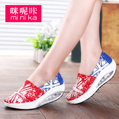 Microphone clicking fall 2015 Korean leisure shoes low foot lazy people shook the canvas shoes women's shoes