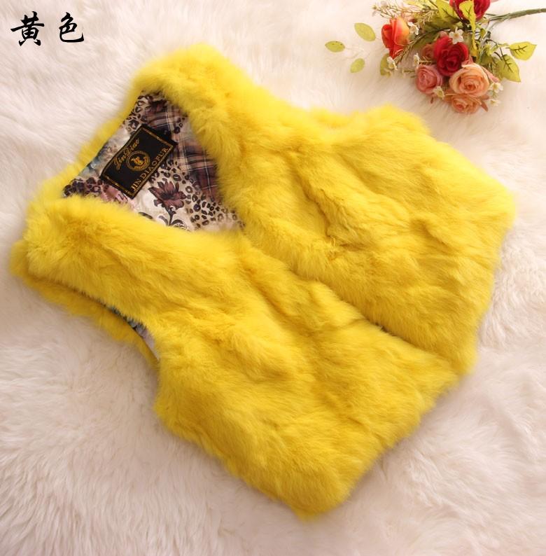 Мех кролика Пальто длиной в кролика меховой жилет жилеты рукавов тонкий слой сезон распродажа скидки