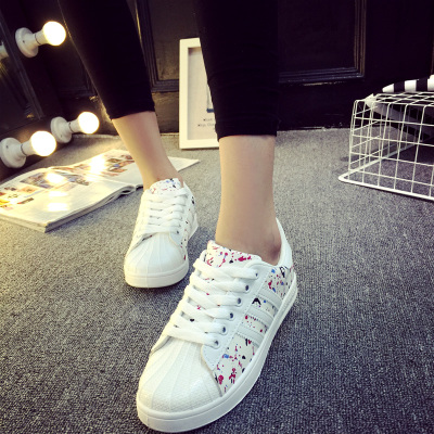 Han edition fashion casual shoes with flat woman comfortable fashion movement with spell color female joker shells head sandals
