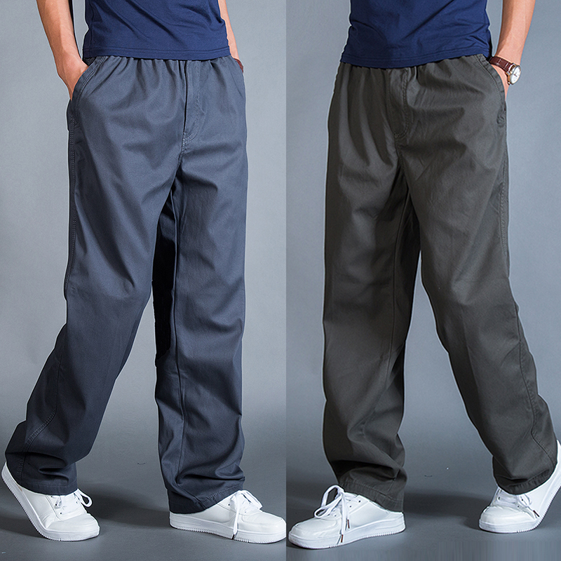 Mens oversized cotton casual pants