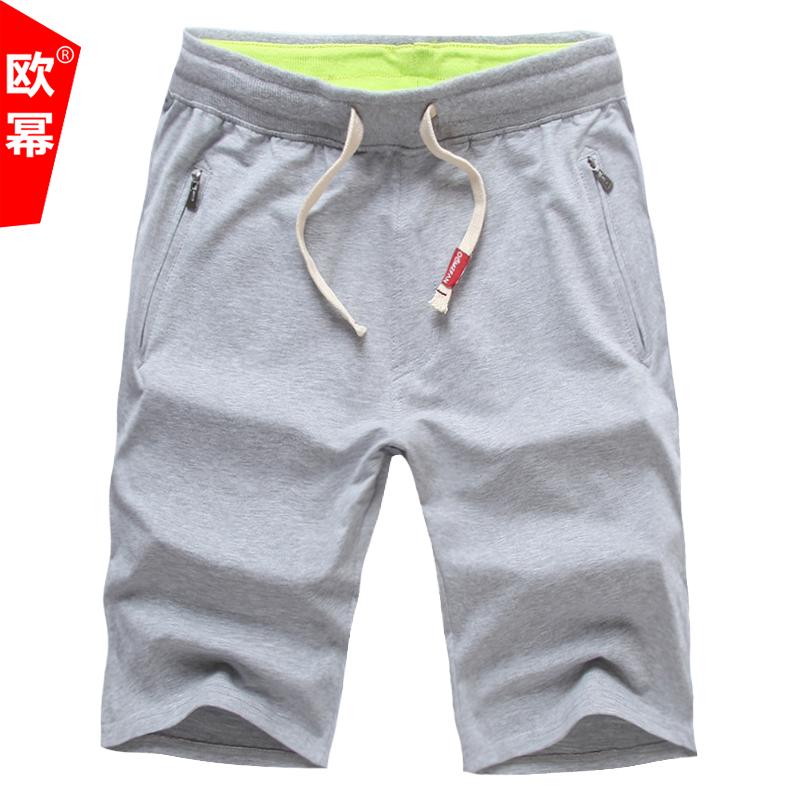 夏季运动短裤男宽松跑步五分裤纯棉沙滩裤七分裤夏天男士休闲中裤