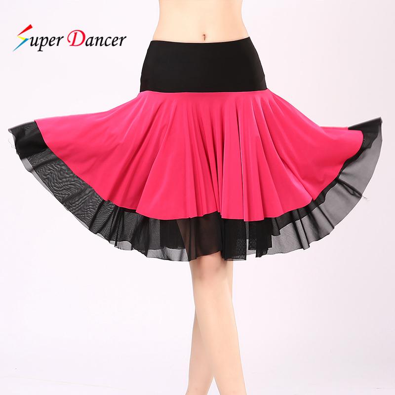 2016 кадриль одежда юбка новый юбка танцы юбка лето модель латинский танец юбка платье марля юбка