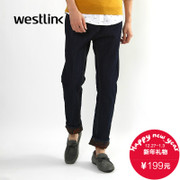 2015 new style fashion men's pants in the West Korean version flows fall/winter leisure teen wild black skinny jeans men