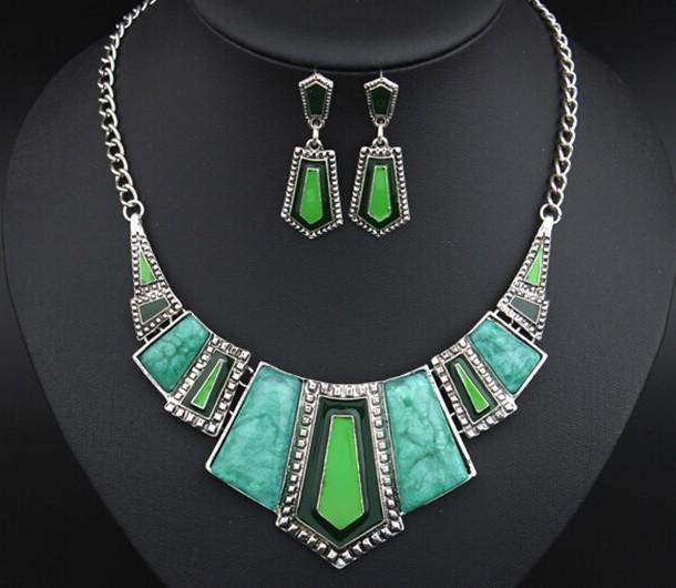 耳环套装项链 short Necklace women jewelry бижутерия