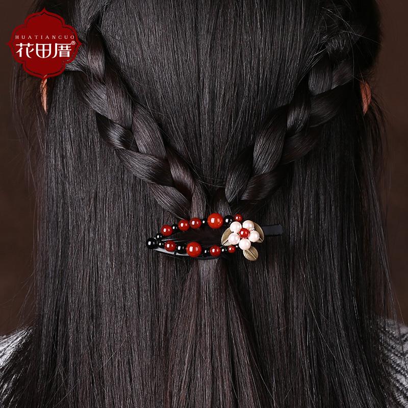 Цветок дом оригинал головной убор ретро ветер топ клип агат аксессуары для волос пирсинг боковой зажим аксессуары средства для волос клип женщина