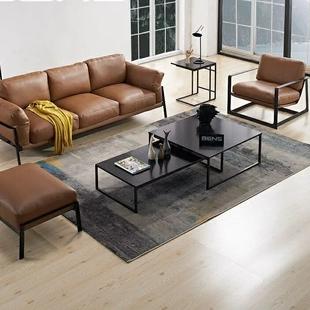 北欧实木客厅茶几简约现代铁艺组合小户型长方形伸缩个性 创意茶桌
