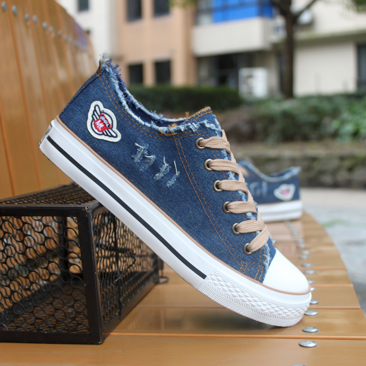 Холст обувь мужская обувь Мужская повседневная обувь Корейский прилива подростков студентов обувь плоские туфли обувь прилива