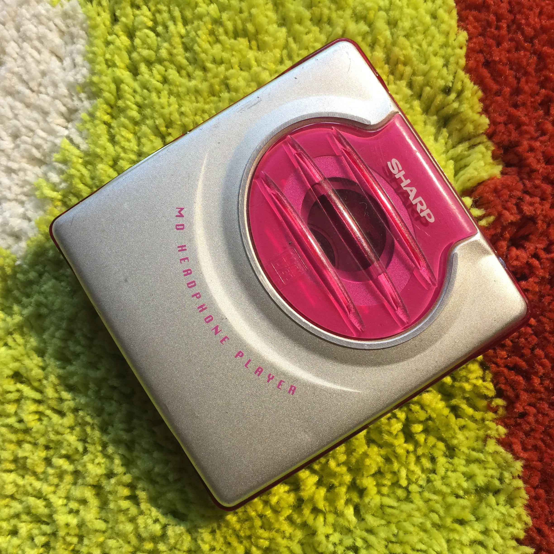 Два рука оригинал SHARP лето генерал MD портативный слушать MD-ST50-P функция идеальный читать блюдо быстро мини cd машинально