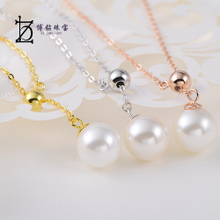 S925 silver collarbone mini pearl pendant necklace female, Japan and deserve to act the role of Chinese valentine's day my girlfriend birthday package mail