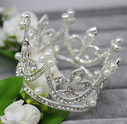 Shi Huanqi H106 new retro rounded Crown wedding bridal tiara exquisite small studio style Crown