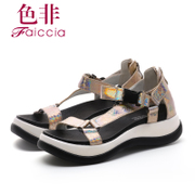 Faiccia/non non 2015 summer styles counter genuine leather peep-toe platform shoes B731