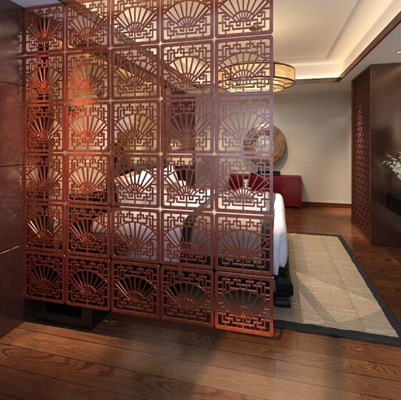 简易屏风隔断客厅现代双面办公室卧室移动雕花时尚装饰玄关