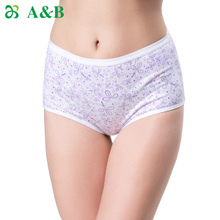 Kathi Jones from A&B middle-aged lady high waist pants quality goods Cotton printing antibacterial pants Show a shorts 2 pack
