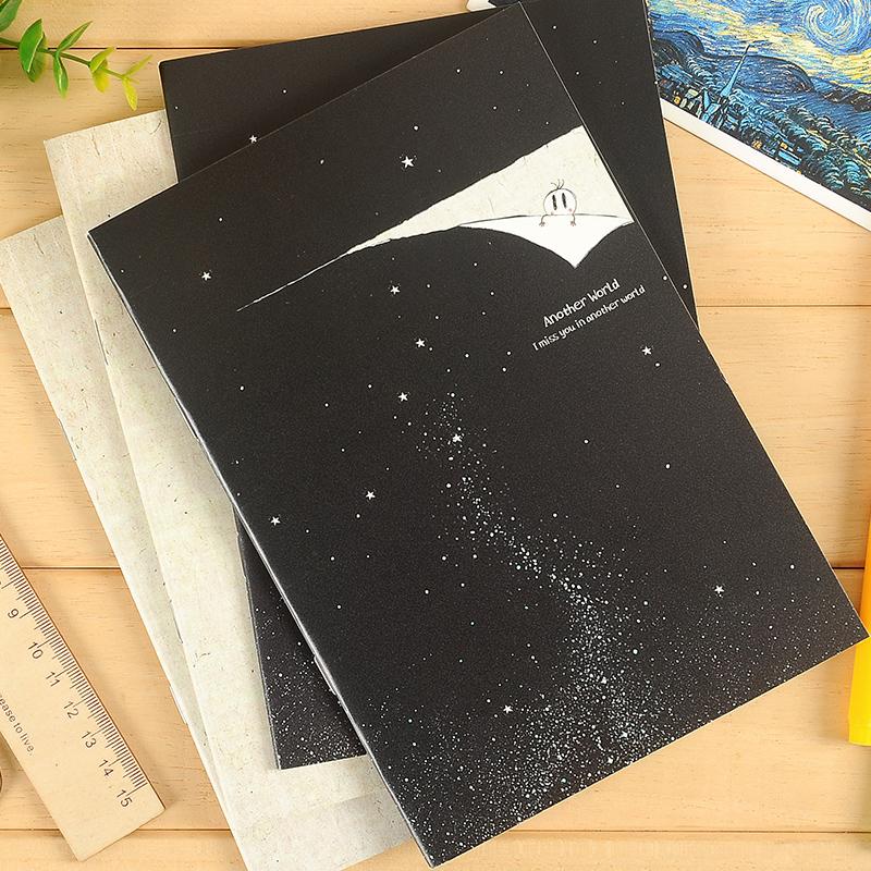 本木/另一个世界 骑马钉本 创意韩国文具日记本笔记本 记事本子A5