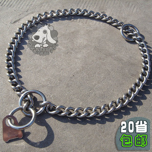 304 stainless steel single row of chain metal dog collar necklace dog chain dog collar medium sized snake chain P chain control chain