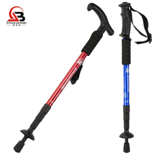 Jungle Leopard Outdoor authentic trekking pole Aluminum trekking pole T handle Straight handle Walking walking crutches