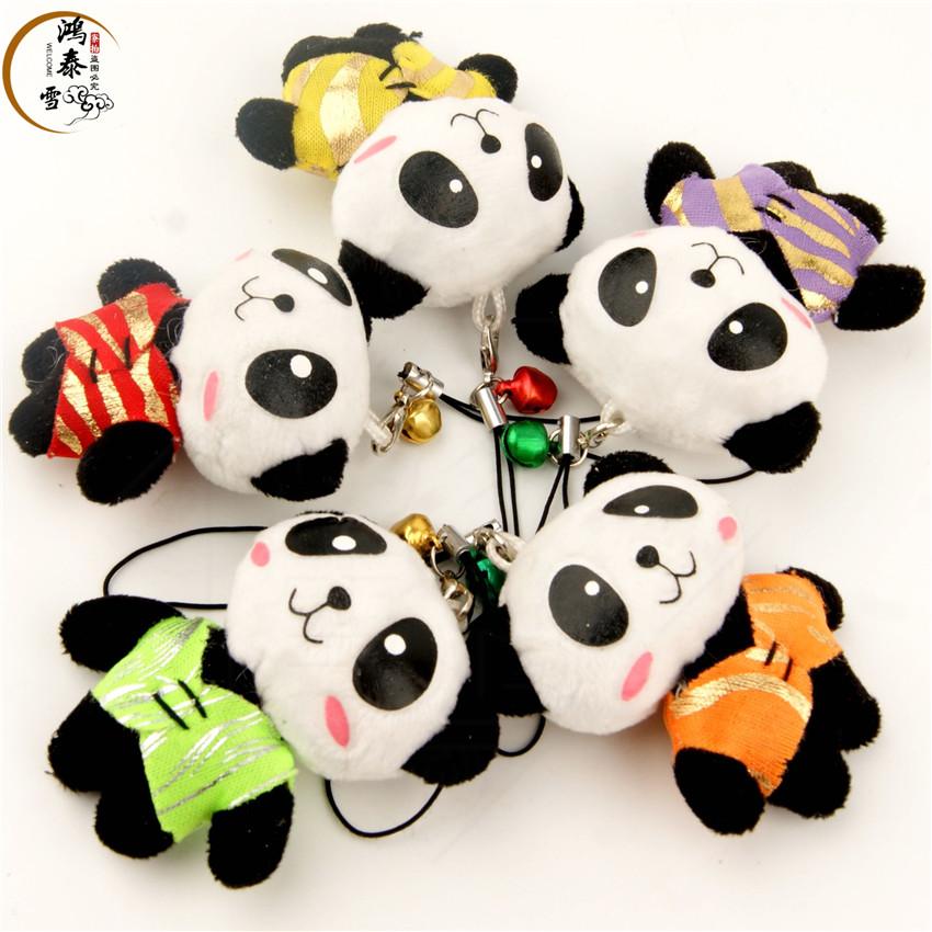 中国风唐装可爱熊猫挂件卡通毛绒手机链出国老外送同学教师节礼物