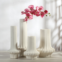 Decorations Modern fashion ceramic vase simple flowers modern home soft decorations white vase