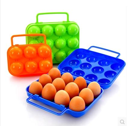 户外鸡蛋盒子 野餐便携塑料 6格鸡蛋盒 12格鸭蛋包装盒便携鸡蛋托