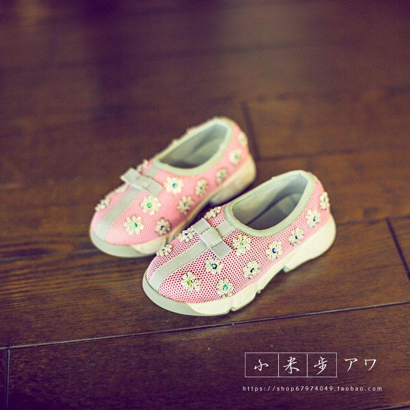 к 2015 году весной Детская обувь девочек обувь Chao Хань студентов цветок принцесса обувь мальчиков обувь