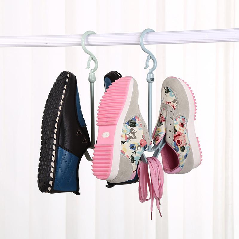 多功能加厚防风晒鞋架 挂鞋架 晾鞋架 可旋转塑料晾鞋架 4个装