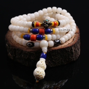 Natural white lime series original Candida 108 beads Tibetan Bodhi seed agate bracelet for men and women