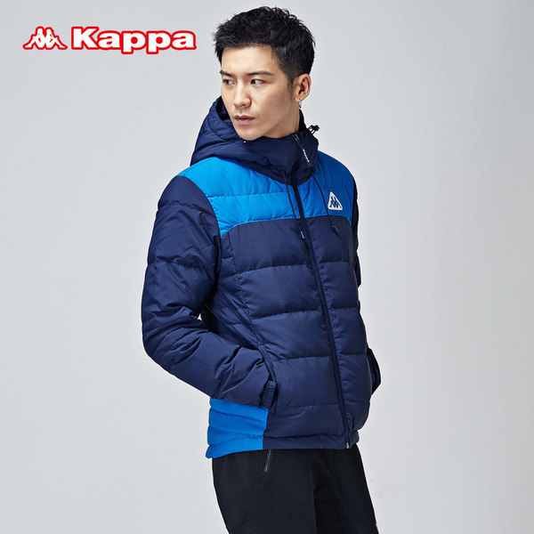 Kappa Kappa men down jacket short paragraph sportswear warm winter coat hooded jacket | K0552YY19