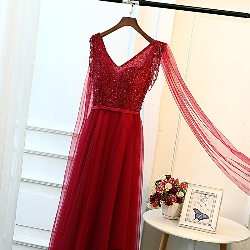 红色长款晚礼服婚纱裙2019新款秋季新娘结婚敬酒服女显瘦高腰孕妇