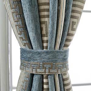 典雅中式条纹窗帘成...