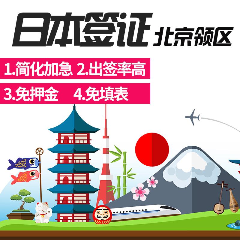 [北京送�]日本五年多次��C�化加急自由行��人旅游