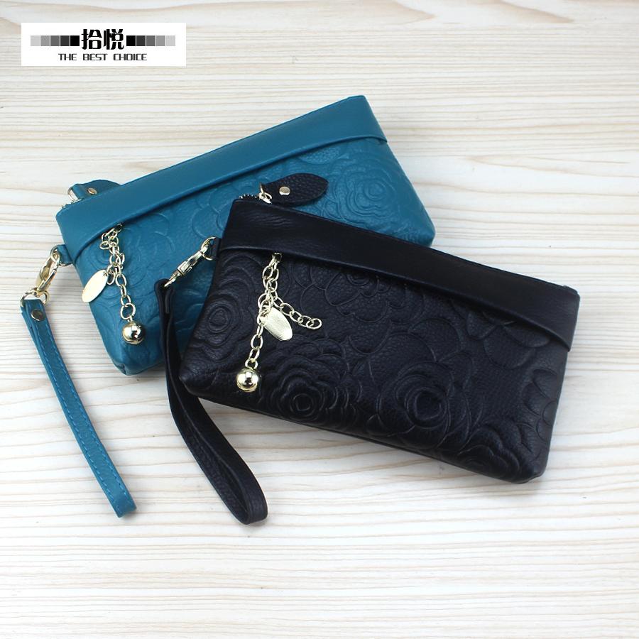 2016 новый женский заголовок слой кожаный кошелек сцепления сумка кожаный монета кошелек телефон мешок косметический мешок от перенапряжения