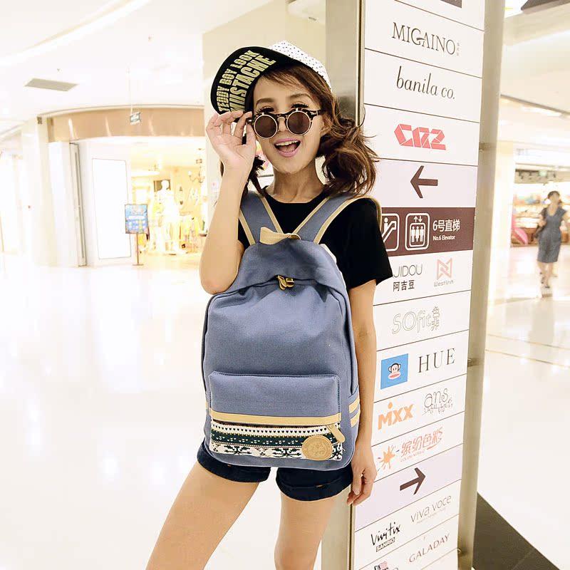 2014 Новый корейский школы рюкзак Студенческая пара сумки досуг мешки Ветер прилива мужчин мешок мешок компьютера