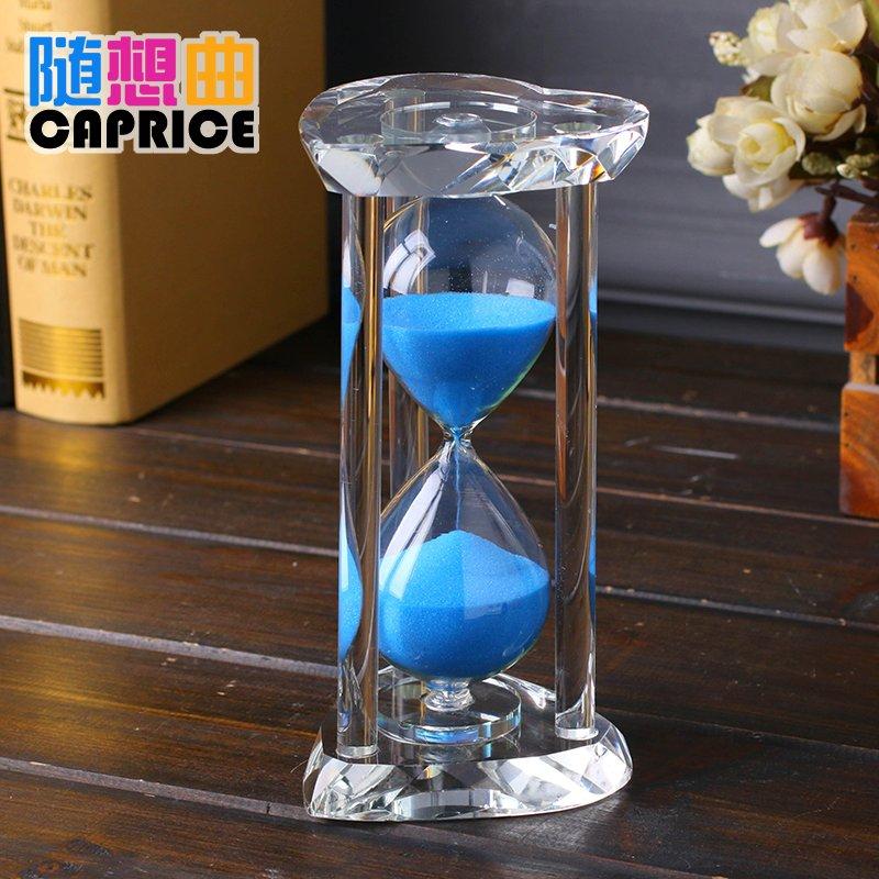36.80元包邮心形水晶摆件30分钟520秒diy沙漏