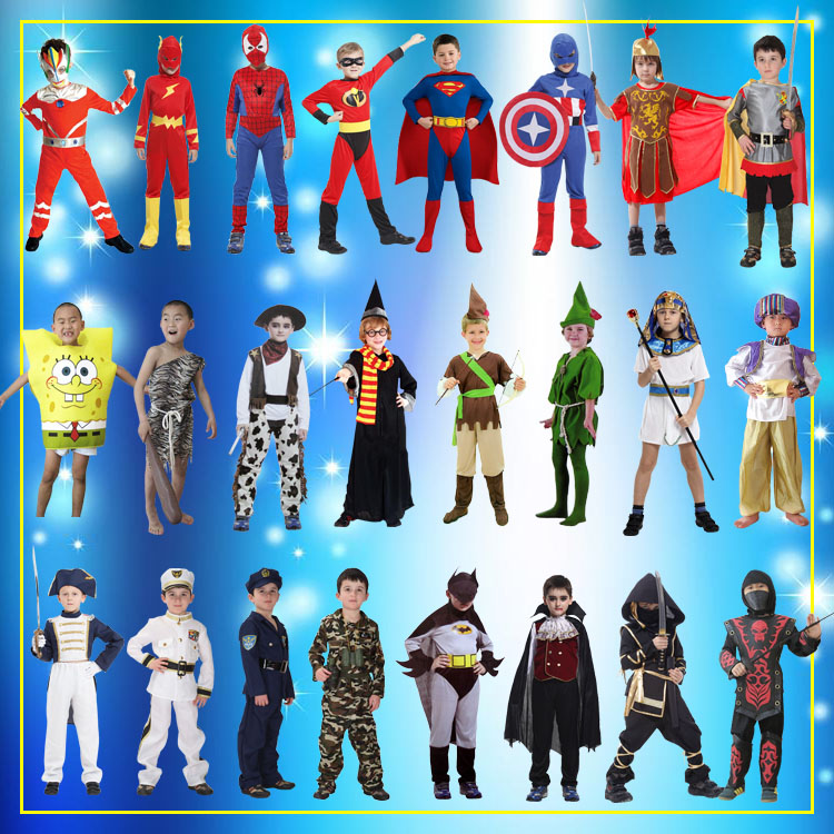 Cos Halloween children's costume Navy US captain boy role play savage police Vampire Costume