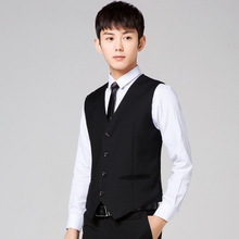 Sabawi Spring and Autumn Self-cultivation Western Armored Men's Suit and vest Business Leisure Professional Dress Korean Edition