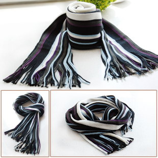 188 South Korean version of the influx of male models in autumn and winter wool scarves knitted scarf autumn and winter boys and men