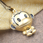 Korean version of the cartoon monkey sweater chain Korea Korean jewelry pendant ornament necklace sweater chain personality package mail