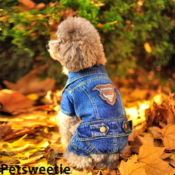 3 пакет почта | расстроен 4 legged Джинсы Одежда для собак бишон плюшевого щенка погладить одежду собака зимние пальто