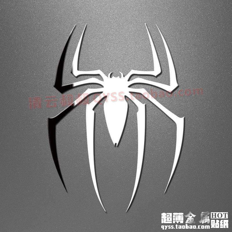 蜘蛛侠3漫威Spider-Man标志手机笔记本键盘超薄DIY金属贴可定制