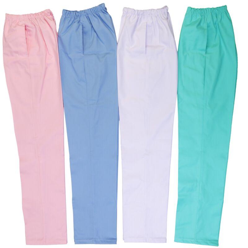 Осень/зима белые медсестра брюки упругие талии брюки мешок почты фрукты порошок синий брюки зеленый размер медсестер медсестра