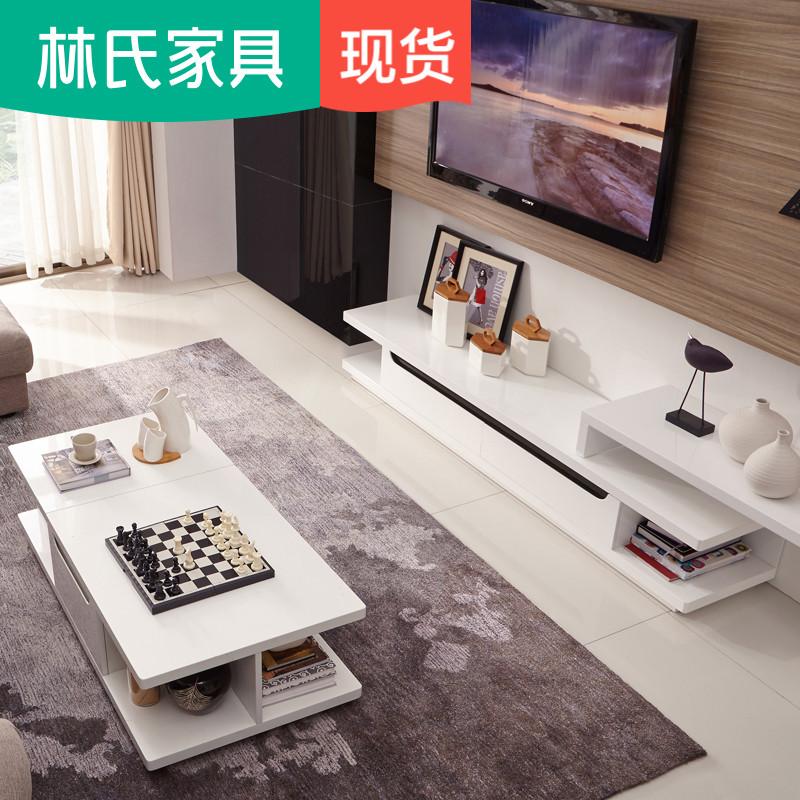 Лес клан нордический современный простой кофейный столик телевизионный шкаф сочетание краски зеркало телескопической гостиная полный мебель LS019DG1