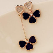 Love Korea Korean fashion jewelry quality earrings asymmetrical petals daughter ear jewelry